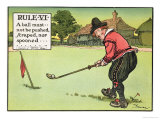 "Rule Vi: a Ball Must Not be Pushed, Scraped Nor Spooned, from ""Rules of Golf,"" Published circa 1905 Giclee Print by Charles Crombie"
