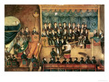 Masonic Initiation Ceremony of a Male Freemason, Early 19th Century Giclee Print