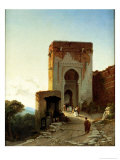 Porte De Justice, Alhambra, Granada Premium Giclee Print by Francois Antoine Bossuet
