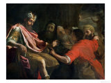Daniel Interpreting Nebuchadnezzar's First Dream Giclee Print by Mattia Preti