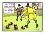 Rule VIII: Unless with the Opponents Consent a Ball in Play Shall Not be Moved Giclee Print by Charles Crombie