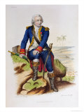 Louis Antoine De Bougainville (1729-1811) Seated on a Rock, Illustration from Le Plutarque Francais Giclee Print by Julien Leopold Boilly