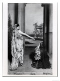 """Postcard Depicting Sarah Bernhardt in """"Phedre"""" by Jean Racine Late 19th Century Giclee Print"""