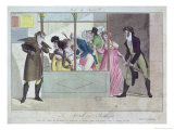 Prostitutes at the Palais-Royal from Mode Du Jour Giclee Print by Claude Louis Desrais