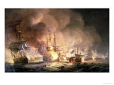 Battle of the Nile, 1st August 1798 at 10Pm, 1834 Giclee Print by Thomas Luny