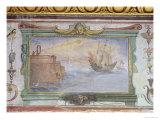 Burning Mirrors, Stanzio Della Mattematica, 1587-1609 Giclee Print by Giulio Parigi