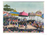 Reception for the English Ambassador Held by the Ashanti at Comassi, Ghana, circa 1818 Giclee Print