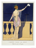 Farewell at Night, Design for an Evening Dress by Paquin Premium Giclee Print by Georges Barbier