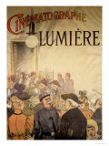 "Poster Advertising the ""Cinematographe Lumiere,"" 1896 Premium Giclee Print by H. Brispot"