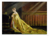 Queen Victoria in Her Coronation Robe, 1838 Giclee Print by Charles Robert Leslie