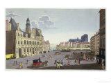 View of the Place De L'Hotel De Ville, as Seen from the Rue Du Mouton Giclee Print by Henri Courvoisier-Voisin