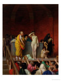 Sale of a Slave Girl in Rome, 1884 Giclee Print by Jean-Léon Gérôme
