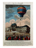 The First Ballooning Experiment at the Chateau De Versailles, 19th September, 1783 Giclee Print