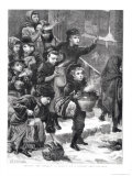 Feeding the Hungry, a London Soup Kitchen, 1880 Giclee Print by Charles J. Staniland