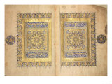 Illuminated Pages from a Koran Manuscript, Il-Khanid Mameluke School Giclee Print