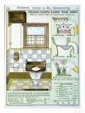 Okeanos Closets from a Catalogue of Sanitary Wares Produced by Morrison, Ingram & Co., Manchester Giclee Print