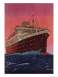 The Liner M.V. Alcantara at Sea, 1928 Giclee Print by Kenneth Shoesmith