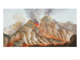 Crater of Mount Vesuvius from an Original Drawing Executed at the Scene in 1756 Giclee Print by Pietro Fabris
