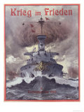 Krieg Im Frieden, Poster Celebrating the German Naval Manoeuvres of 1903 Giclee Print by Willy Stower