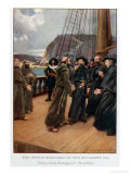 The Jesuits Welcomed by the Recollets in 1625 Giclee Print by Charles William Jefferys