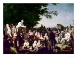 Stump Speaking Reproduction procédé giclée par George Caleb Bingham