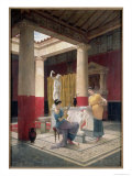 Maidens in a Classical Interior, 1879 Giclee Print by Luigi Bazzani