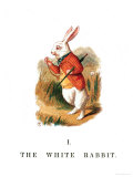 "The White Rabbit, Illustration from ""Alice in Wonderland"" Giclee Print by John Tenniel"