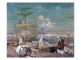 The Port of Algiers, circa 1900 Giclee Print by Leon Cauvy