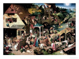 Pieter Bruegel the Elder - Mavi Pelerin - Giclee Baskı