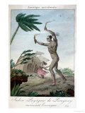 A Payaguas Indian Shaman Attempting to Turn Away a Hurricane, Paraguay, 1811 Giclee Print
