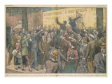 Protest Against the Popular Front, from &quot;Le Pelerin&quot; Magazine, 11th October 1936 Giclee Print by Eugene Damblans