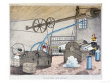 Industrial Weaving and Spinning Giclee Print by V. Janson