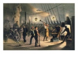 "The Forge on Deck of the Great Eastern, Night of August 9th, 1865, from ""The Atlantic Telegraph"" Giclee Print by Robert Dudley"