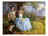 Mr. and Mrs. Andrews, circa 1748-9 (Detail) Giclee-trykk av Gainsborough, Thomas