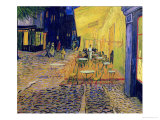 The Caf&#233; Terrace on the Place du Forum, Arles, at Night, c.1888 (detail) Giclee Print by Vincent van Gogh