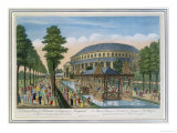 The Chinese House, the Rotunda and the Company in Masquerade in Ranelagh Gardens Giclée-Druck von John Bowles