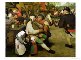 Peasant Dance, 1568 (Detail) Giclee Print by Pieter Bruegel the Elder