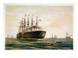 "The Great Eastern under Way, July 23rd, 1865, from ""The Atlantic Telegraph"" Giclee Print by Robert Dudley"