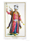 Genghis Khan from Receuil Des Estampes, Representant Les Rangs Et Les Dignites Giclee Print by Pierre Duflos