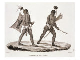 "Warriors from the Island of Ombai, from ""Voyage Autour Du Monde (1817-20)"" Giclee Print by Jacques Etienne Victor Arago"