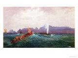 A Whaling Scene Giclee Print by Cornelius Krieghoff