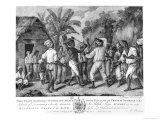A Cudgelling Match Between English and French Negroes on the Island of Dominica, 1779 Giclee Print by Agostino Brunias