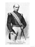 Gabriel Garcia Moreno President of Ecuador Giclee Print by Henri Thiriat