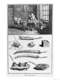 """The Art of Writing, Illustration from the """"Encyclopedie"""" by Denis Diderot 1763 Giclee Print by Robert Benard"""