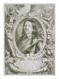 "Karl X Gustav King of Sweden, from ""Portraits Des Hommes Illustres,"" Published 1706 Giclee Print by Anselmus Van Hulle"