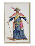 Yu Emperor of China from Receuil Des Estampes, Representant Les Rangs Et Les Dignites Giclee Print by Pierre Duflos
