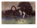 Will-O'-The-Wisp and Snake Giclee Print by Hermann Hendrich