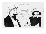 Willy Colette and Polaire Giclee Print by Sem