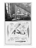 "The Art of Writing, Illustration from the ""Encyclopedie"" by Denis Diderot 1763 Giclee Print by Robert Benard"