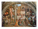 "Fire in the Borgo, from the ""Stanza Dell""Incendio"" circa 1514-17 Premium Giclee Print by  Raphael & Giulio Romano"